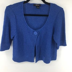 Style & Co Cropped Cardigan